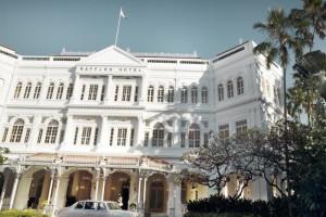 Exterior view of Raffles Hotel - Singapore.