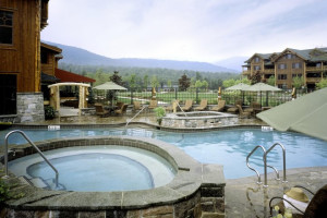 Pool area at The Whiteface Lodge.