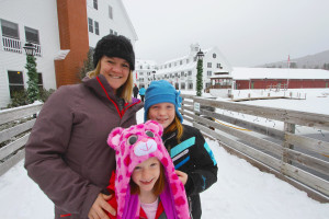Family at Waterville Valley Resort.