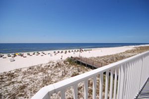 Beach view at Windemere Perdido Key.