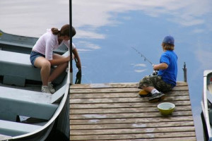 Fishing at Lost Lake Lodge.