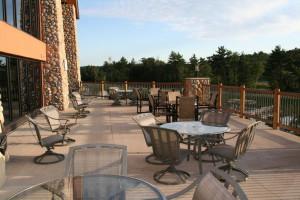 Patio view at Three Bears Lodge.