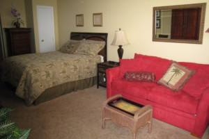 Guest room at The Crossings.