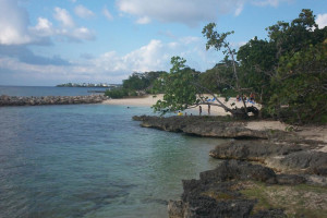 Beach at Point Village.