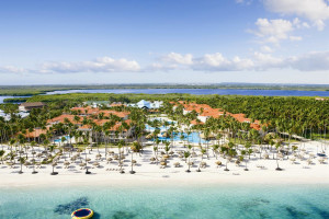 Aerial view of Dreams Palm Beach Punta Cana.