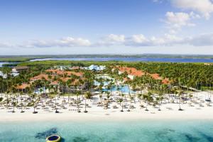 Aerial view of Dreams Palm Beach Punta Cana.