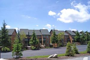 Vacation rental exterior view at Snowshoe Properties Management.