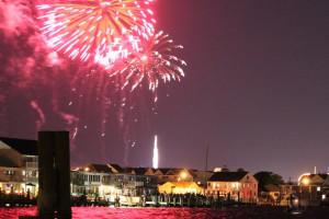 Fireworks in Ocean City near Quality Inn Oceanfront Ocean City.