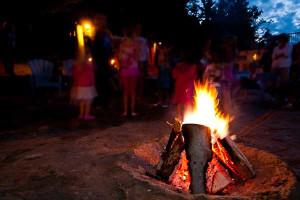 Campfire at Lumina Resort.