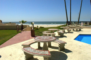 Oceana Del Mar Patio at  Rosarito Inn Condominiums