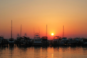 Sunset at Sandestin Golf Resort.