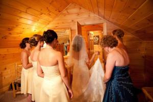 Wedding at Mountain Springs Lake Resort.