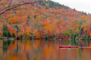 Fall colors at Fiddler Lake Resort.