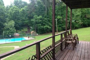 Outdoor pool at Palisades Resort.