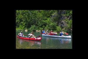 Canoeing at Shady Lane Cabins & Motel.