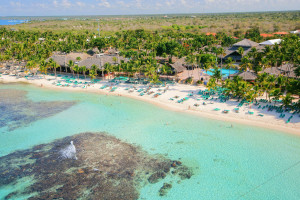 Aerial view of Viva Dominicus Beach.