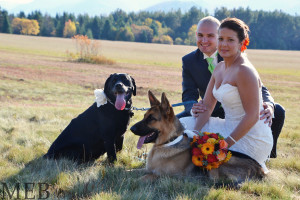 Wedding couple at Golden Arrow Lakeside Resort.