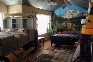 Guest room at K3 Guest Ranch.