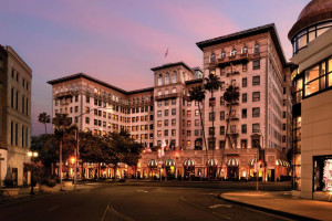 Exterior view of Beverly Wilshire Beverly Hills.
