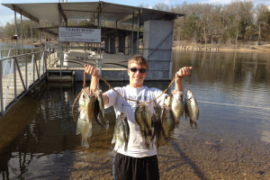 Fishing at Vickery Resort On Table Rock Lake.