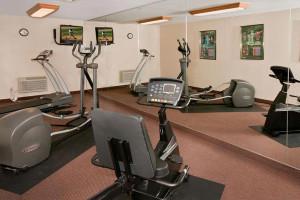 Fitness center at Best Western Ingram Park Hotel.