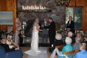 Wedding ceremony at Kandahar Lodge.