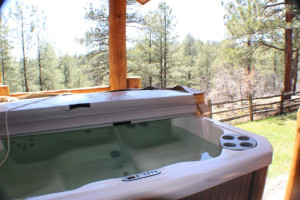 Rental hot tub at Sunetha Property Management.