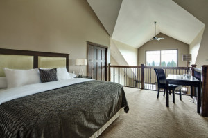 Guest room at Bighorn Meadows Resort.