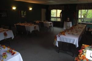 Wedding reception at Pine Vista Resort.