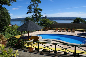 Outdoor pool at Arenal Vista Lodge.