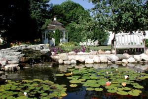 Garden at White Lace Inn.