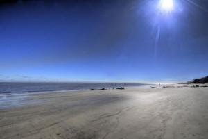 The beach at Days Inn & Suites Jekyll Island.