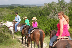 Horseback riding trails at Twin Elm Ranch.