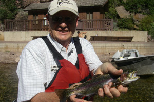 Guided fishing at Flaming Gorge Lodge.