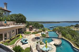 Outdoor pool at Utopian Austin Vacation Rentals.