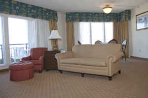 Guest living area at Virginia Beach Resort Hotel.