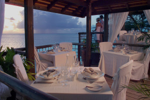 Dining at Cocobay Resort.