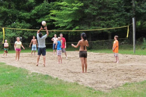 Beach volley ball at The Clyffe House.