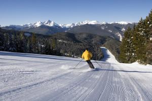 Skiing at Vail's Mountain Haus.