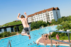 Outdoor pool at Dorint Hotel Bad Duerkheim.
