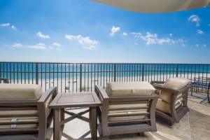 Vacation rental patio at Luxury Coastal Vacations.