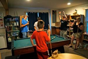 Game room at Anderson's Starlight Bay Resort.