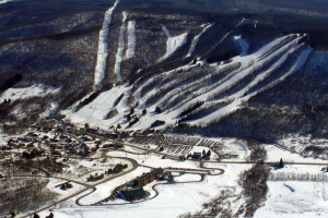 Ski mountain at Greek Peak Mountain Resort.