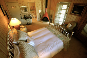 Guest room at Oleander House Bed & Breakfast.