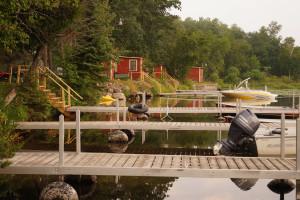 Docks at Anderson's Starlight Bay Resort.
