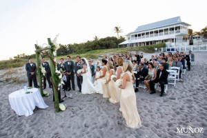 Wedding ceremony at The Seagate Hotel & Spa.