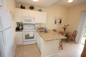 Rental kitchen at Boca Ciega Resort.