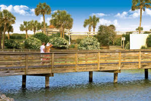 Dock at Ocean Creek Resort.