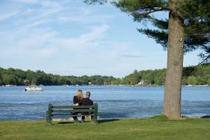 Couple at Split Rock Resort & Golf Club.