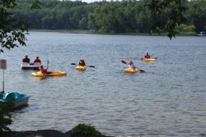 Kayaking at Kavanaugh's Sylvan Lake Resort.